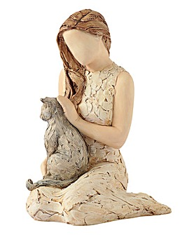More Than Words Affection Cat Figurine