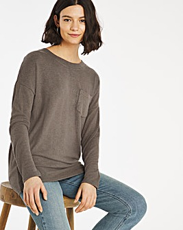 Dusty Olive Soft Touch Pocket T-shirt