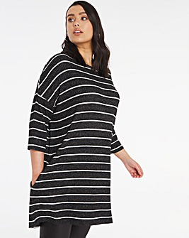 Stripe Soft Touch Side Pocket Tunic