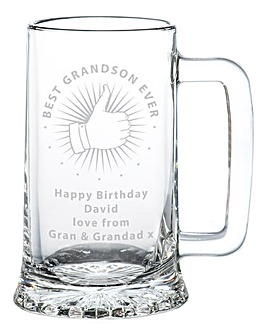Personalised Thumbs Up Tankard
