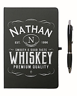 Personalised Label Notebook & Pen