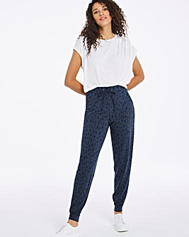 Indigo Animal Print Slim Jogger