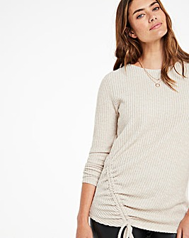 Soft Touch Ruched Side Top