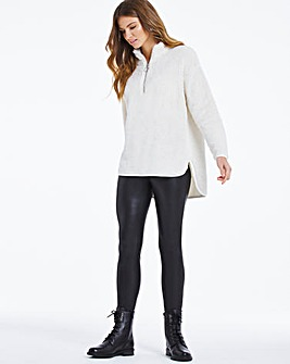 Winter White Teddy Fleece Zip Tunic