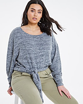 Soft Touch Tie Hem Top