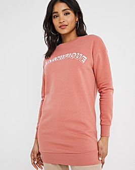 Magnifique Embrodoidered Longline Sweat