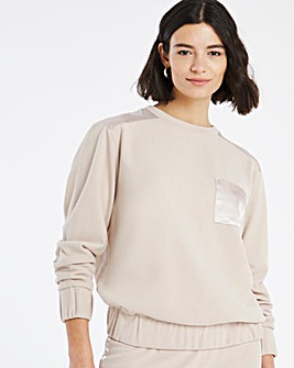 Satin Trim Soft Touch Sweatshirt