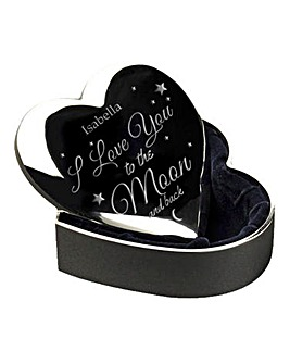 Personalised Moon & Back SP Heart