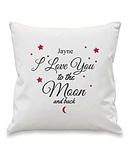 Personalised Moon & Back Cushion Cover