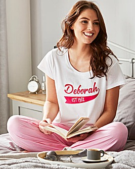 Personalised Ladies Est Pyjamas
