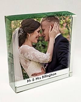 Personalised Photo Jade Block