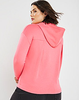 Blossom Pink Pleat Back Hoodie
