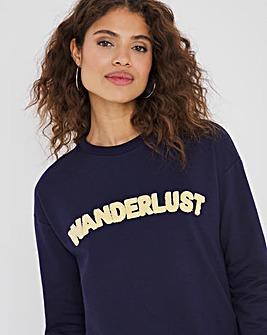 Wanderlust Longline Sweatshirt