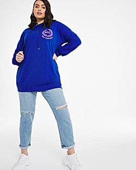 Varsity Self Care Club Longline Hoodie