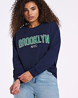 Varsity Navy Brooklyn NY Sweatshirt