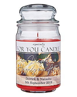 Personalised Wedding Jar Candle