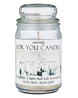 Personalised Memorial Jar Candle