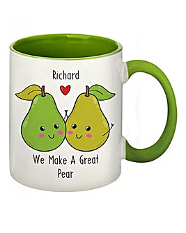 Personalised Great Pear Coloured Mug