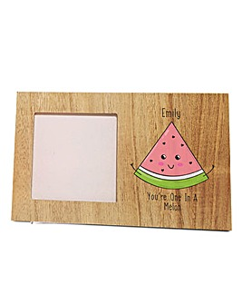 Personalised One in a Melon Photo Frame
