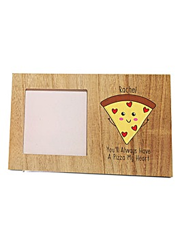 Personalised Pizza My Heart Photo Frame