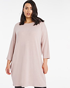 Dusty Pink Soft Touch Side Pocket Tunic