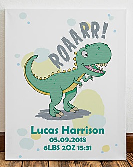 Personalised Dinosaur Canvas