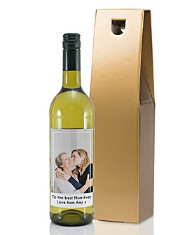 Personalised Photo Bottle of Wine