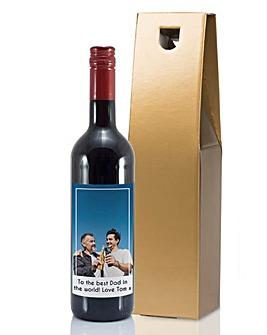 Personalised Photo Bottle of Wine