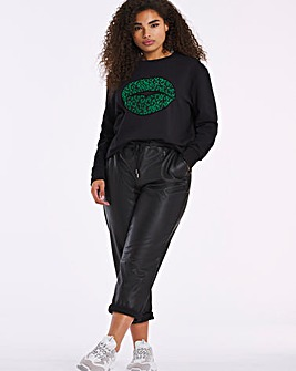 Emerald Green Flock Lips Sweatshirt