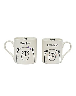 Pers Mama & Little Bear Duo Mugs
