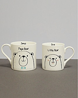 Pers Papa & Little Bear Duo Mugs