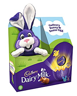 Cadbury Easter Egg and Plush Bunny