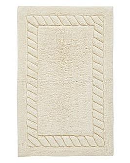 Rope Twist Cotton Bathmat