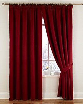 Twilight Woven Blackout Thermal Pencil Pleat Curtains