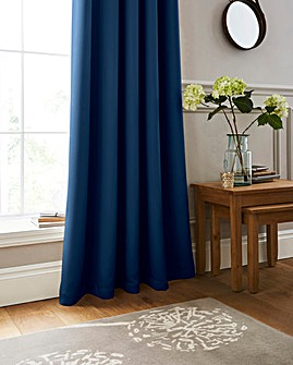 Woven Twilight Blackout Thermal Pencil Pleat Curtains
