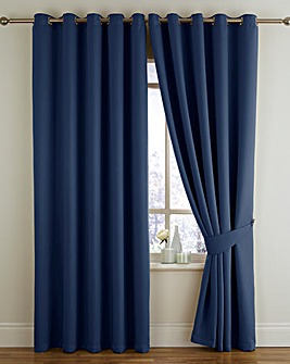 Twilight Woven Blkout Eyelet Curtain