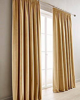 Luxury Velour Lined Pencil Pleat Curtain
