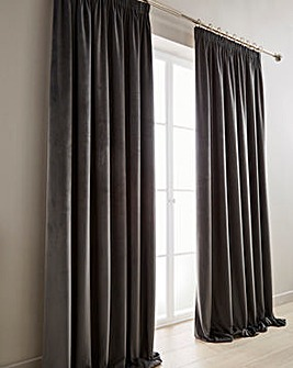 Luxury Velour Lined Pencil Pleat Curtains