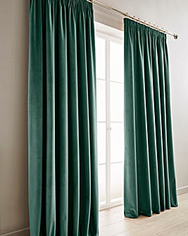 Luxury Heavyweight Velour Lined Pencil Pleat Curtains