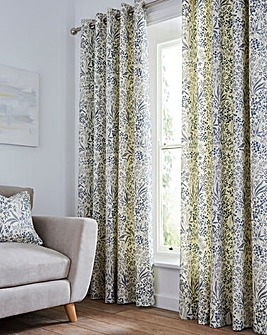 Moira Printed Floral Eyelet Curtains