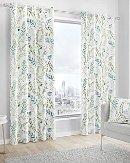 Fusion Fernworthy Printed Eyelet Curtains