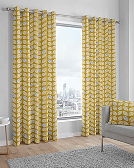 Fusion Delft Printed Eyelet Curtains