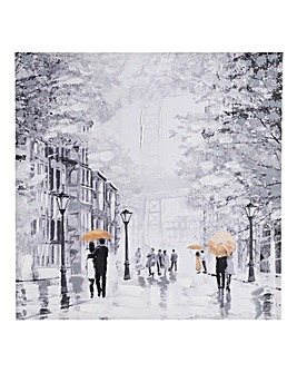 Rainy Manhattan Printed Canvas