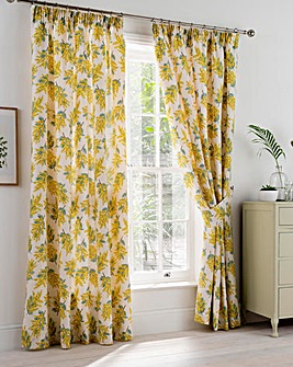 Cath Kidston Mimosa Flower Pencil Pleat Curtains