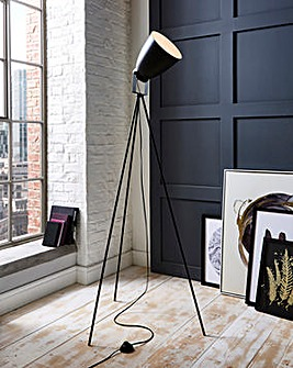 Louise Black Tripod Floor Lamp