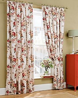 Cath Kidston Garden Rose Pencil Pleat Curtain