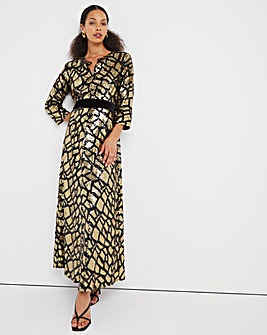 Jo Animal Sequin Maxi Dress