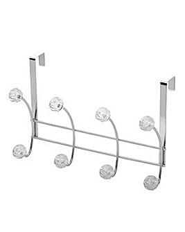 Diamond 4 Hook Over Door Rail