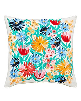 Painted Floral Cushion