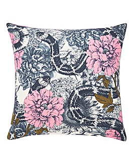 Floral Snake Cushion Cover